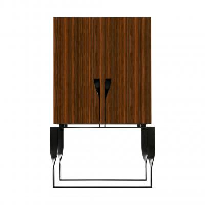 Forcola Bar Cabinet New - FORCOLA BAR with DOORS SET - NAT. ROSEWO