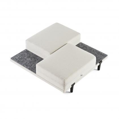 Asola Occasional Seat Table - asola occas. seat t. -Damantio Silver Shelves