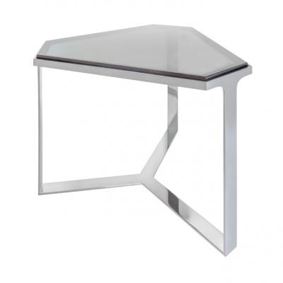 Forma Table - CHROMED BASE/GRAY GLASS TOP