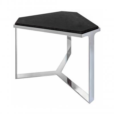 Forma Table - CHROMED BASE/ANTIQUE STONE TOP