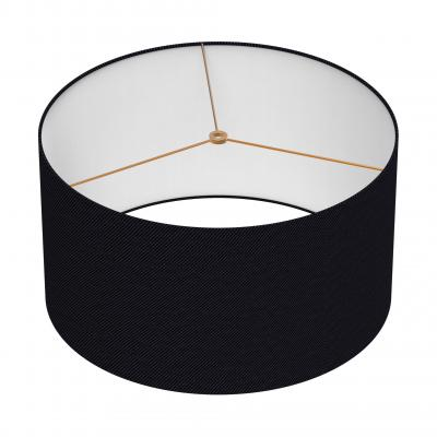 Cylindrical Shade 18 In - NOIR/BRASS