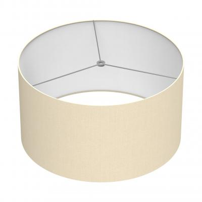 Cylindrical Shade 18 In - WHITE/CHROME