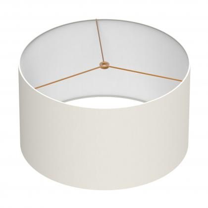 Cylindrical Shade 16 In - IVORY/BRASS