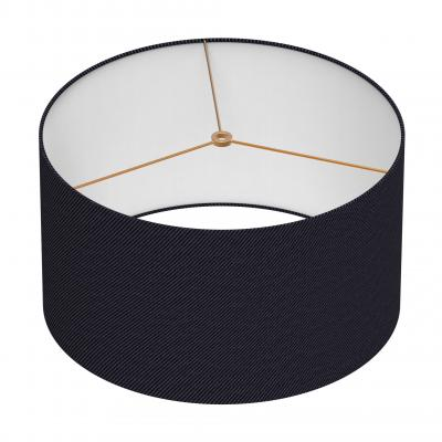 Cylindrical Shade 16 In - NOIR/BRASS