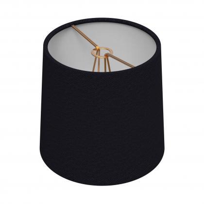 Chandelier Drum Shade Large - NOIR/BRASS