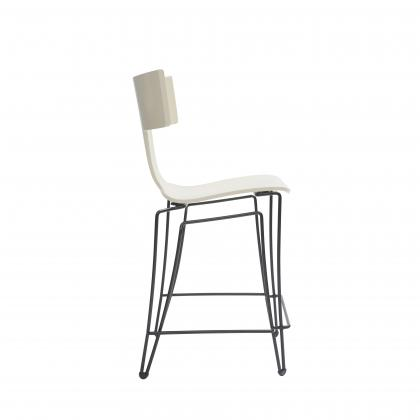 Anziano Counter Chair - IVORY LACQUER