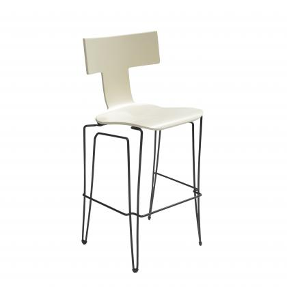 Anziano Bar Chair - IVORY LACQUER